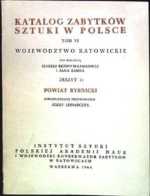 Katalog Zabytkow Sztuki w Polsce; Tom VI: Rejduch-Samkowej, Izabeli, Jana
