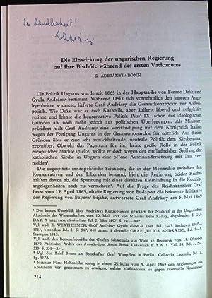 Die Einwirkung der ungarischen Regierung auf ihre: Adrianyi, Gabriel: