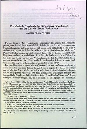 Das römische Tagebuch der Fürstprimas Janos Simor: Adrianyi, Gabriel: