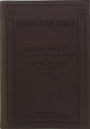 Die elsaß-lothringischen Franziskanerklöster und die Thüringische Provinz;: Oliger, Livarius: