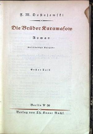 Die Brüder Karamasow; 1. Teil: Dostojewski, F.M.: