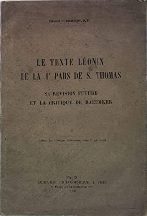 Le Texte Léonin de la 1a Pars: Suermondt, Clément: