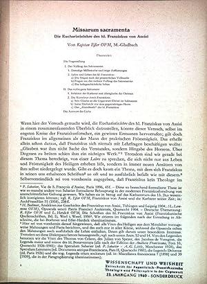 Missarum sacramenta: Die Eucharistielehre des hl. Franziskus: Esser, Kajetan: