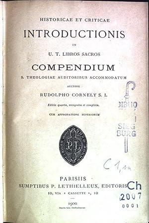 Historicae et criticae introductionis in U.T. Libros: Cornely, Rudolpho: