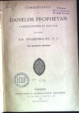 Commentarius in Danielem Prophetam: Lamentationes et baruch: Knabenbauer, Iosepho: