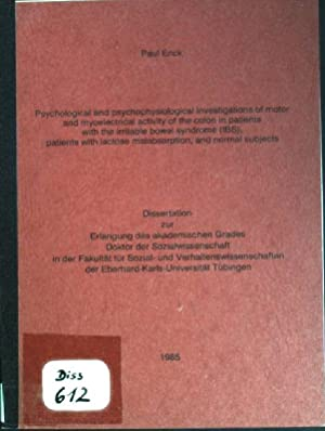 Psychological and psychophysiological investigations of motor and: Enck, Paul: