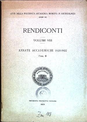 Rendiconti; Vol. VIII - Annate Accademiche 1931-1932;