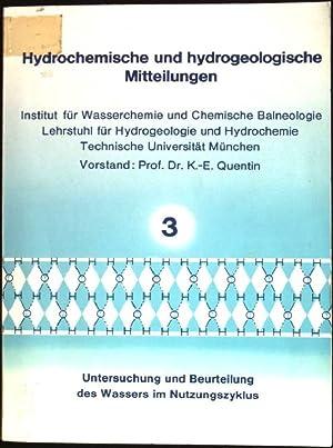 Untersuchung und Beurteilung des Wassers im Nutzungszyklus: Quentin, Karl-Ernst und