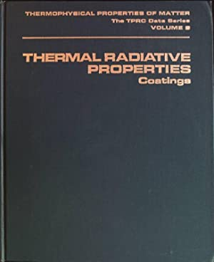 Thermal radiative properties: coatings Thermophysical Properties of: Touloukian, Y.S., D.P.