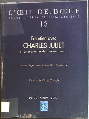 Entretien avec Charles Juliet et un Journal: Debreuille, Jean-Yves und