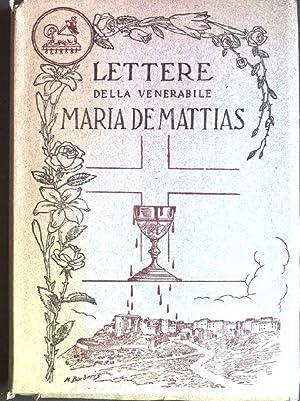 Lettere della venerabile Maria de Mattias; Vol.: Jorio, Domenico: