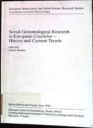 Social gerontological research in European countries : Amann, Anton [Hrsg.]: