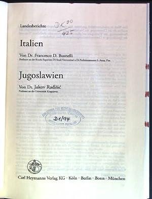 Landesberichte: Italien / Jugoslawien Deliktsrecht in Europa: Busnelli, F.D. und