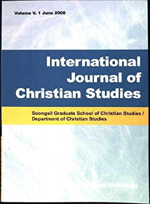 International Journal of Christian Studies. Soongsil Graduate: Kim, Yung Han:
