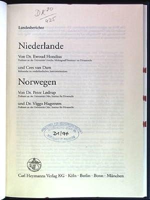 Landesberichte: Niederlande / Norwegen Deliktsrecht in Europa: Hondius, Ewoud, Cees
