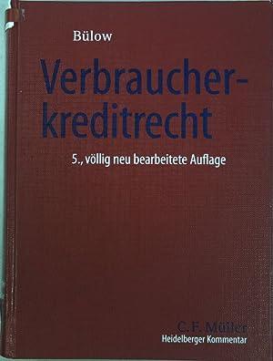 Heidelberger Kommentar zum Verbraucherkreditrecht : Darlehen und Finanzierungshilfen, Widerruf und ...