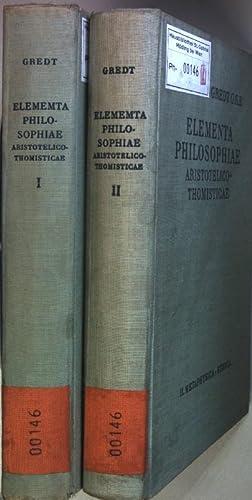 Elementa philosophiae aristotelico-thomisticae (2 vols.cpl./ 2 Bände: Gredt, Iosepho: