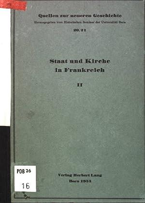 Staat und Kirche II: vom Kultus der: Walder, Ernst: