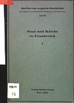 Staat und Kirche I: von der gallikanischen: Walder, Ernst: