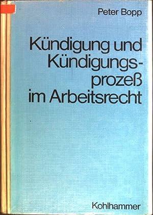 Kündigung und Kündigungsprozess im Arbeitsrecht: Bopp, Peter: