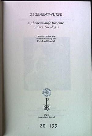 Gegenentwürfe : 24 Lebensläufe für eine andere Theologie. hrsg. von Hermann Hä...
