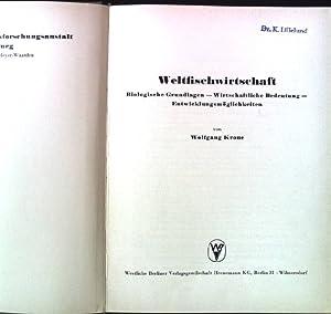 Weltfischwirtschaft. Schriften der Bundesforschungsanstalt für Fischerei 6.: Krone, Wolfgang:
