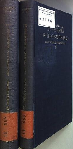 Elementa philosophiae Aristotelico-Thomisticae (2 vols.cpl./2 Bände KOMPLETT): Gredt, Iosepho: