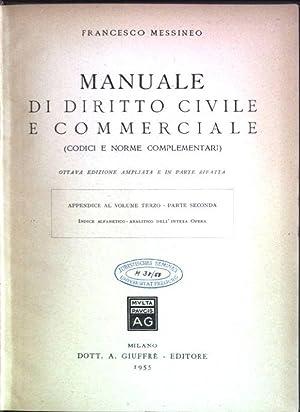 Manuale di diritto civile e commerciale (Codici: Messineo, Francesco: