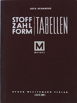 Stoff-Zahl-Form: Tabellen für das Metallgewerbe.: Jütz, Hermann und