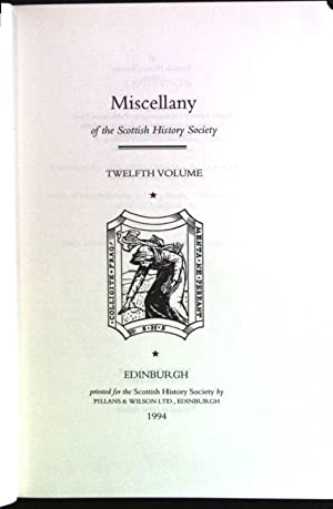 Miscellany of the Scottish History Society; 12.
