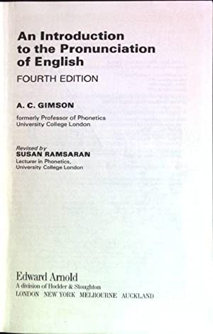 An Introduction to the Pronunciation of English: Ramsaran, Susan and