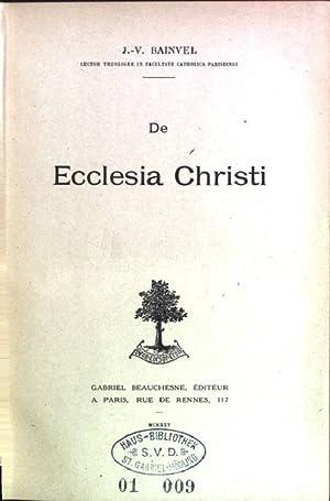 De ecclesia Christi: Bainvel, J.-V.: