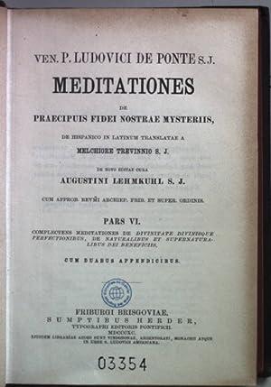 Ven. P. Ludovici de Ponte S.J. Meditationes: Lehmkuhl, Augustini:
