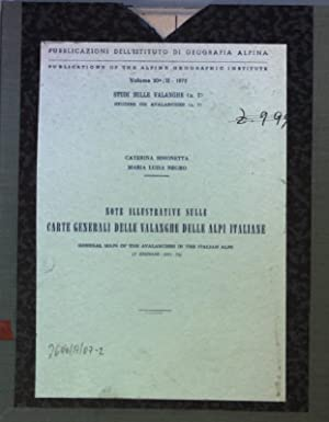 Note illustrative sulle carte generali delle valanghe: Simonetta, Caterina and