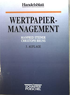 Wertpapiermanagement;: Steiner, Manfred und
