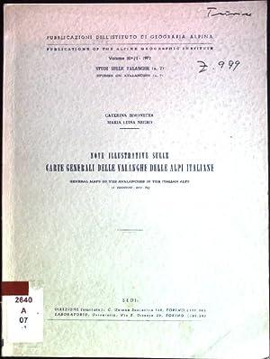 Note illustrative sulle carte generali delle Valanghe: Simonetta, Caterina und