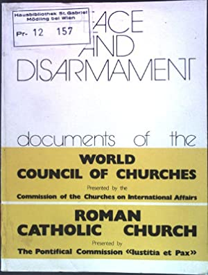 Peace and disarmament. documents of the World
