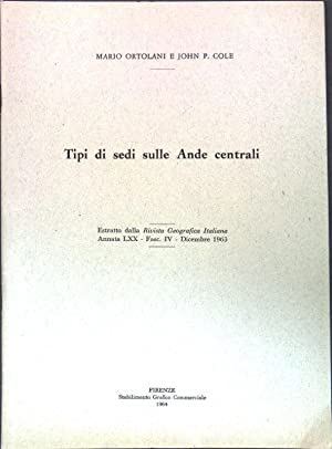 Tipi di sedi sulle Ande centrali; Estratto: Ortolani, Mario und