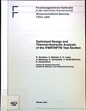 Optimised Design and Thermal-Hydraulic Analysis of the: Gordeev, S., V.
