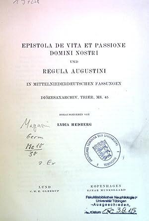 regula vitae - Used - AbeBooks