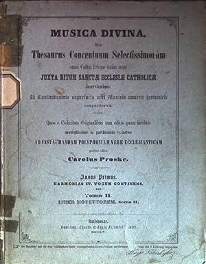 Musica divina sive Thesaurus Concentuum Selectissimorum omni: Proske, Carolus: