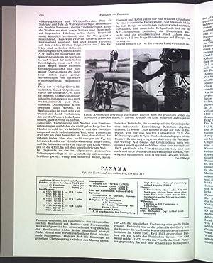 Panama; Sonderdruck aus: Grosser Herder Atlas;: Lauer, Wilhelm:
