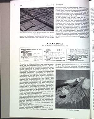 Nicaragua; Sonderdruck aus: Grosser Herder Atlas;: Lauer, Wilhelm: