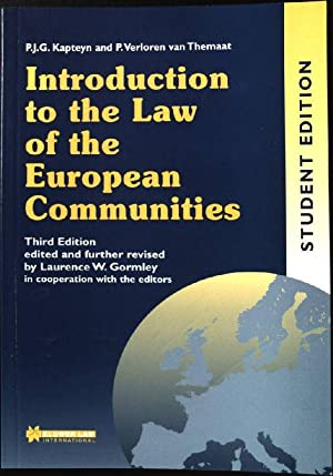 Introduction to the Law of the European: Gormley, Laurence, P.J.G.