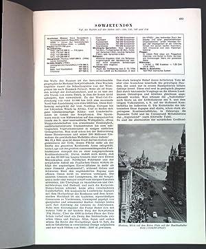 Sowjetunion; Sonderdruck aus: Grosser Herder Atlas;: Meckelein, Wolfgang: