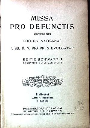 Missa pro Defunctis conformis Editioni Vaticanae a
