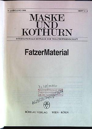 Masken und Kothurn: Internationale Beiträge zur Theaterwissenschaft