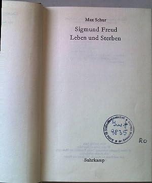 Sigmund Freud. Leben und Sterben. Literatur der: Schur, Max: