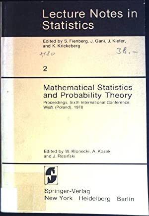 Mathematical statistics and probability theory: proceedings, 6th: Klonecki, Witold (Hrsg.):