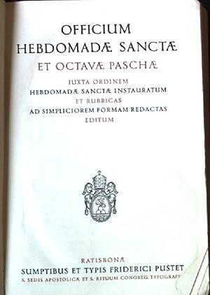 officium hebdomadae sanctae